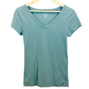 Victoria's Secret Olive Green V-Neck T-Shirt - M